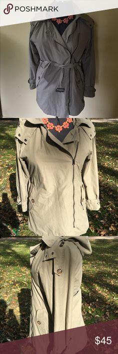 ZARA woman asymmetrical zip trench coat ZARA woman asymmetrical zip, lined trench coat. Amazing condition. Hood is removable. Zara Jackets & Coats Trench Coats