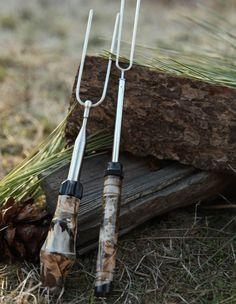 New Camouflage Rolla Roaster and Folding fork! www.rollaroaster.com