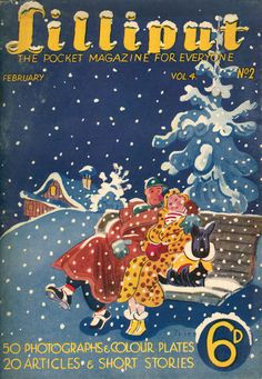 Lilliput Magazine, January 1939, Volume 4, Number 2, Cover art by Walter Trier.