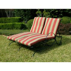 International Caravan Double Multi-position Chaise Lounge