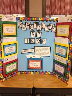 What a great idea for conferences~! This teacher makes a board of some handouts perfect for practicing at home, because so many times the parents want to help but aren't sure how (or don't have the materials). Brilliant! by cathryn