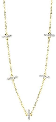 See the Women's Freida Rothman Radiance Crystal Station Necklace. Silver Necklaces, Gold Necklace, Station Necklace, Sparkle, Nordstrom, Chain, Crystals, Jewelry, Gold Pendant Necklace