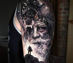 Tatto Viking, Viking Tattoo Sleeve, Norse Tattoo, Viking Tattoo Design, Viking Tattoos, Warrior Tattoos, Feather Tattoos, Body Art Tattoos, 3d Tattoos