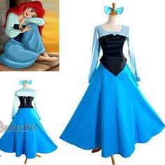 Customized The Little Mermaid Princess Ariel Dress Cosplay Adult Costume Online with $78.96/Piece on Cosplaydiy's Store | DHgate.com