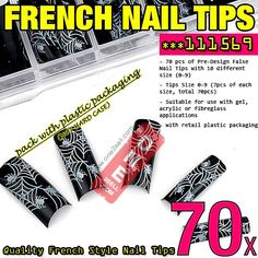 70x Acrylic False Nail Tips French Tips Extensions Animal Print Design #111569 $3.50 , #manicure #nail @one2sell