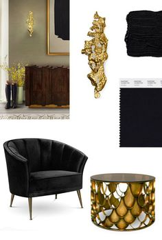 BLACK & GOLD FOR A STYLISH LIVING ROOM ➤Discover more interior design trends and luxury lifestyle news at www.covetedition.com #Luxurylifestyle #LivingRoomTrends #Luxurylivingrooms @covetedition #covetedmagazine #luxuryfurniture #luxurybrands