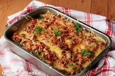 Lasagne z mięsem / Lazania - main Lazania Recipe, Garam Masala, Mozzarella, Cauliflower, Macaroni And Cheese, Recipies, Food And Drink, Cooking Recipes, Yummy Food