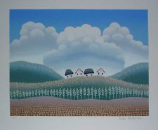 "Ivan Rabuzin ""Village on a Hill"" Original Silkscreen S/N"