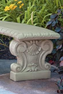 Items available at BF landscape 856-740-1445 www.bflandscape.com ITEM #4251 Concrete Bench, Garden Furniture, Garden Sculpture, Landscape, Outdoor Decor, Home Decor, Concrete Table, Mesas, Outdoor Garden Furniture