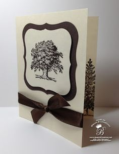 Queen B Creations: Quick and Easy Oak Tree Card