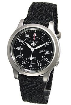 75390d242be SALE PRICE -  84 - Seiko Men s SNK809 Seiko 5 Automatic Stainless Steel  Watch with Black