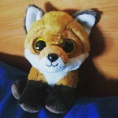 Los #ReyesMagos me han traído un nuevo miembro para la familia #Pelucheando: un #zorro de #peluche adorable. Se llama Foxy :) #fox #plush #peluches #softtoys #softies #instatoys