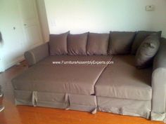 IKEA Sectional sofa bed assembled at The Cloisters Apartments in Washington DC by Furniture Assembly Experts Company