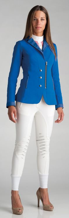 Love my new jacket!!  Never thought of wearing it with heals?!?!  LOL!  Doubt that would work too well in the stirrups...