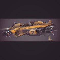 """""""3 Wheeler for tonight #3wheeler #motocar #cardesign #penzoil #recaro #concept…"""