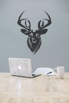 Thedukha Black Deer Metal Wall Art, Gift for friend, Unique home decor, Office Wall Art,Housewarming Gift,Wild Wall Art, Minimalist Wall Art Black Deer, Steel House, Office Wall Art, Forest Animals, Unique Home Decor, Wall Signs, Metal Wall Art, Gifts For Friends, Cnc