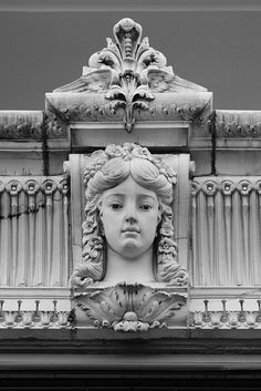 Beaux Arts building detail, Boston MA