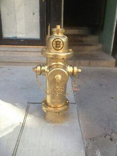 Gold plated Boston Bruins fire hydrant LOL!