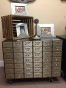 "Metal Bank Safe Deposit Box<br />Small Boxes $500<br />33""w x 24""d x 22""h"