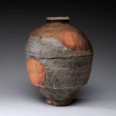 Scott Parady Jar w/ Moon, 2013 13 x 10 in.   woodfired, stoneware