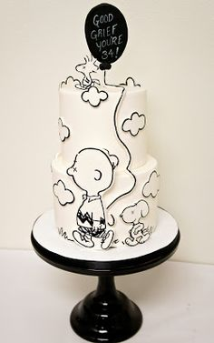 Pretty Cakes, Cute Cakes, Beautiful Cakes, Amazing Cakes, Sweet Cakes, Bolo Snoopy, Snoopy Cake, Unique Cakes, Creative Cakes