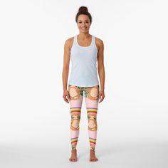 Best Leggings, Sloth, Knitted Fabric, Artwork Prints, Colorful Leggings, Sportswear, Cool Designs, Meditation, Rainbow