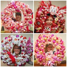 Valentine Wreath Making Party with Naughty Secretary Club, Jennifer Perkins
