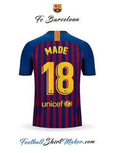 Camiseta FC Barcelona 2018 19 Made 18 4bfbd94e85a