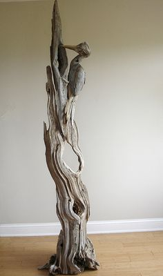Driftwood Pileated WoodPecker Sculpture by Vincent Richel Driftwood Sculpture, Sculpture Art, Sculptures, Driftwood Beach, Driftwood Art, Driftwood Projects, Sea Crafts, Wood Creations, Beach Art