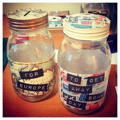 Custom Jars for sale....  #travel #adventure #savings #fund #glassjar #glass #jars #diy #custom #inspiration #holiday # vacation #gift