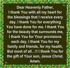 A prayer of thanks