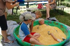 Farm Trail Sampler- first association event in 2011 at Steamboat Acres- Kids activities with Corn box www.sacriverdeltagrown.org