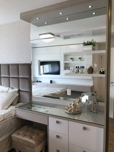 Luxury Closet Design Dressing Tables 51 Ideas For 2019 Bedroom Closet Design, Bedroom Furniture Design, Home Bedroom, Bedroom Decor, Bedroom Kids, Small Space Interior Design, Interior Design Living Room, Stylish Bedroom, Modern Bedroom