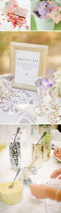 Confeti para invitados de boda