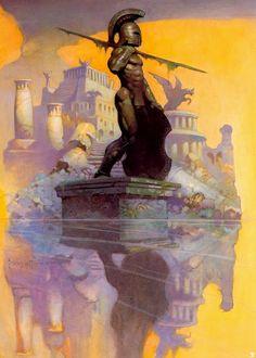 A tribute to Frank Frazetta, one of the greatest artists of heroic fantasy. Frank Frazetta, Arte Sci Fi, Sci Fi Art, Fantasy Artwork, Conan O Barbaro, Art Visionnaire, Fantasy Anime, Dark Fantasy, Illustrator