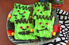 Mama Grubbs Grub: Frankenstein Brownies