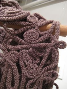 Alana Clifton-Cunningham 'Shoulder Wrap' 2009 detail idea for spool knitting .....@ Af 3/1/13