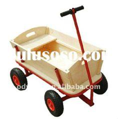 go kart trailer, Sandbeach cart trailer. wooden cart,children tool cart,four wheels ,high quality fr