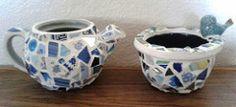 6ec72dea-fa80-4193-86e0-9cc2b44e49dd-1 (JaQ's JunQ) Tags: blue bird handmade mosaic crafts planter