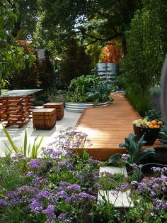 Like the decking added to the patio. For an Australian garden design exhibition. Australian Garden Design, Australian Native Garden, Outdoor Rooms, Outdoor Gardens, Outdoor Living, Courtyard Gardens, Courtyard Ideas, Garden Spaces, Dream Garden