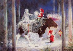 Christmas DIY: Illustration Description Christmas by Sussi Anna Åberg Swedish Christmas, Christmas Gnome, Scandinavian Christmas, Christmas Art, Winter Christmas, Handmade Christmas, Illustration Noel, Christmas Illustration, Illustrations
