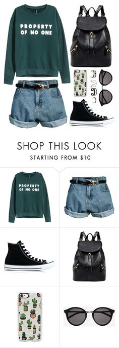 """No One's Property"" by andrea-499 ❤ liked on Polyvore featuring H&M, Retrò, Converse, Casetify and Yves Saint Laurent"