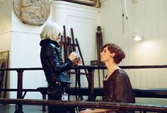"""bespokeredmayne: """" """"""""Perfecting Lili's look on the set of The Danish Girl."""" New behind the scenes photo of Oscar-nominated Jan Sewell working her magic on Eddie Redmayne, also up for an Academy Award. https://instagram.com/p/BBBNYS1kCDg/ """""""