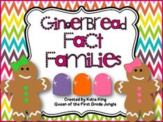 Gingerbread Fact Families to 20 Freebie #factfamilies #firstgrademath #freemathdownload