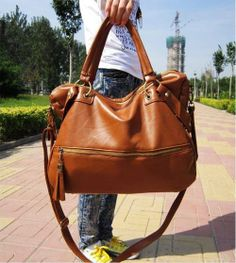 732c35f66a Top Korean Fashion Women Girl Large PU Leather Shoulder Handbag Tote Hobo  Bag Z US $19.53