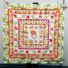 LOOSE THREADS: Round Robin 2011tje final border is awesome, it just adds a wonderful finish to the amazing quilt.