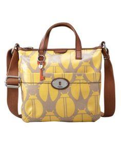 Fossil Handbag, Vintage Key-Per Coated Canvas Crossbody Bag - Handbags & Accessories - Macy's