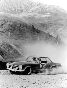 Mercedes SL 230 Rally Car w113 - Eugen Böhringer Mercedes Benz Worksdriver - Endurance Rallye Liege-Sofia-Liege 1963 Winner - 4 Days and Nights 5500 km drive to Sofia. 1 Hour Stop and drive return. Unbelievable!