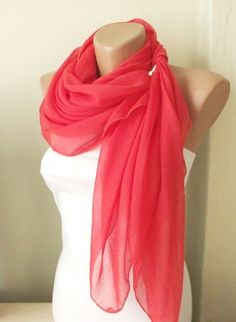 red grenadine red cotton spring scarf