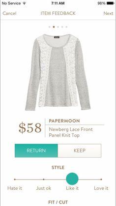 (Dec 2015 Swap) Papermoon Newberg Lace Front Panel Knit - Stitch Fix https://www.stitchfix.com/referral/5807820